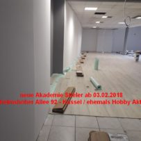 03.02.2018 – Neueröffnung Akademie Stieler = Angebot für Euch !